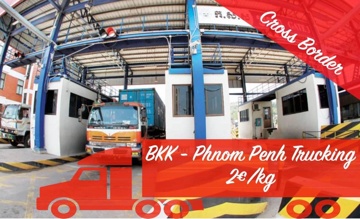 Transport routier depuis Bangkok vers Phnom Penh
